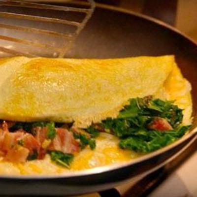 omelete de couve cremosa à la villere