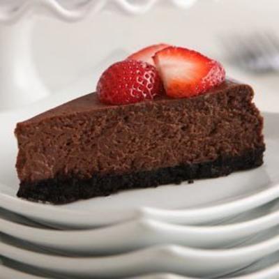 nosso melhor cheesecake de chocolate