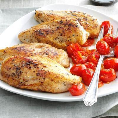 frango balsâmico com tomate assado