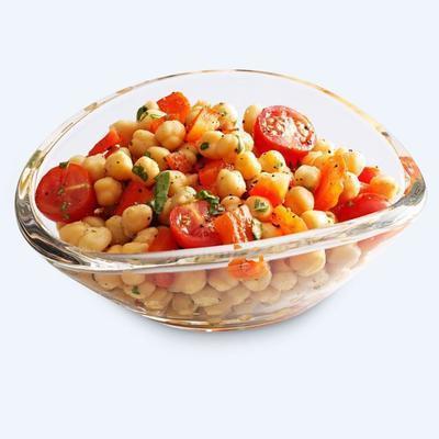 salada de grão de bico refrescante