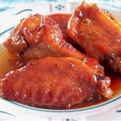 asas de frango doce e pegajoso