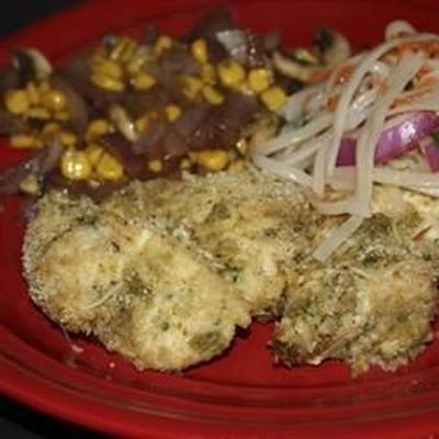 filés de frango à milanesa tailandês