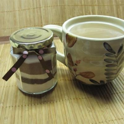 mistura de cappuccino com sabor