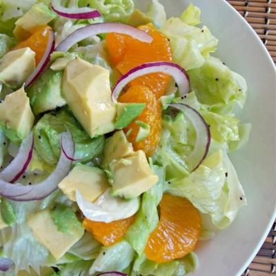 salada verde frutada única