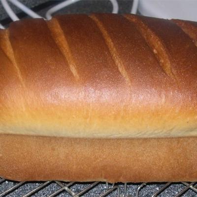 pão branco de fita azul