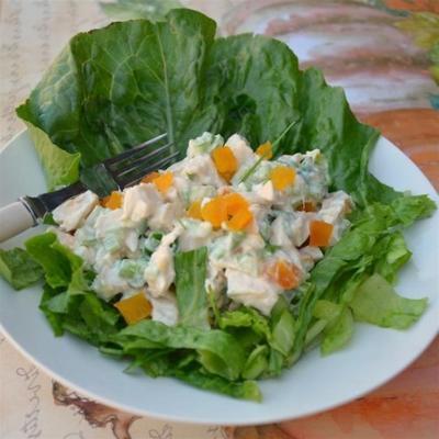 salada de frango doce e azedo