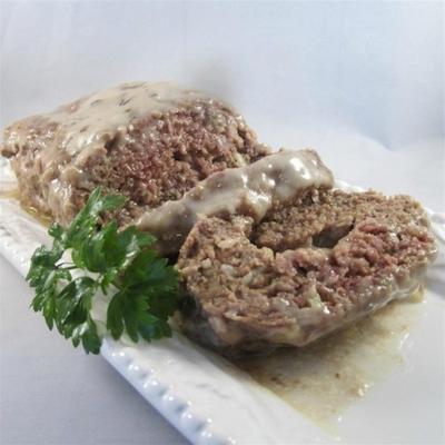 cogumelo no bolo de carne do meio
