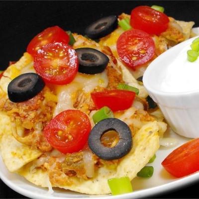 nachos de frango estilo restaurante