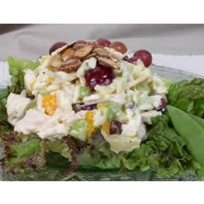salada maravilhosa de caril de frango