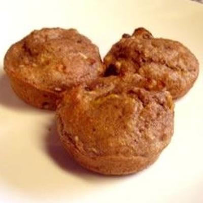 muffins de farelo de maçã com baixo teor de gordura