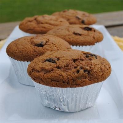 muffins de especiarias de melaço