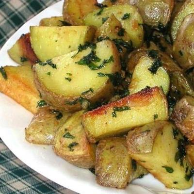 coentro e alho batatas