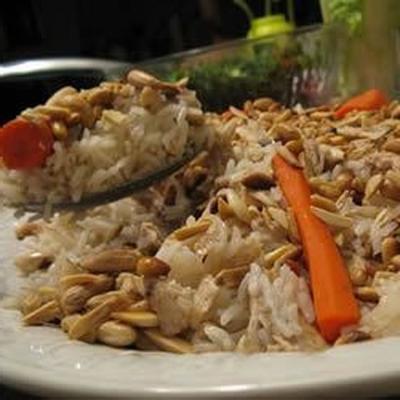 arroz de frango de cabeça para baixo