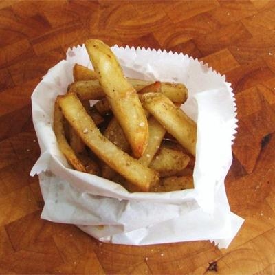 batatas fritas do caminhão da microplaqueta