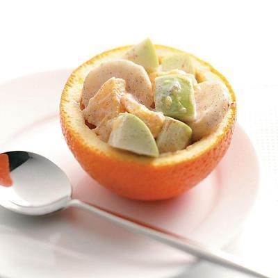 copos de sobremesa de laranja