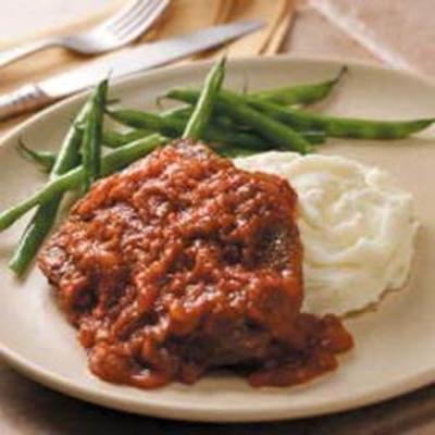 bife redondo com sabor de churrasco