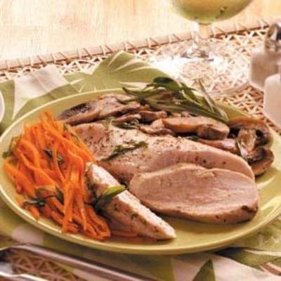 pacote de frango e vegetais de estragão