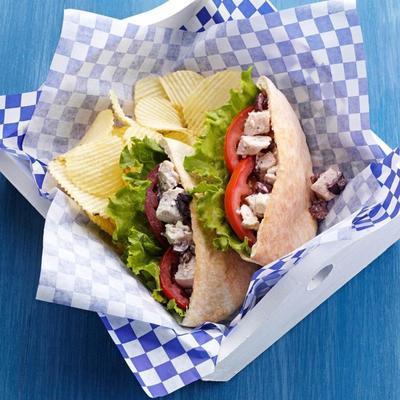 sanduíche de frango grego
