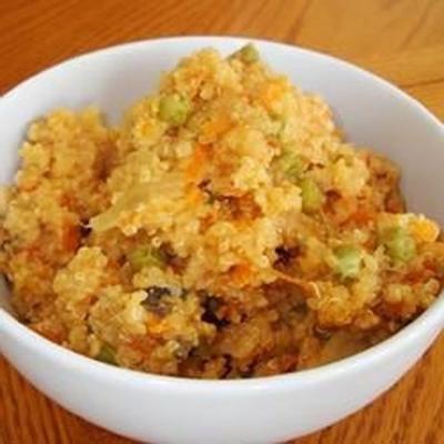 quinoa com ervilhas e parmesão