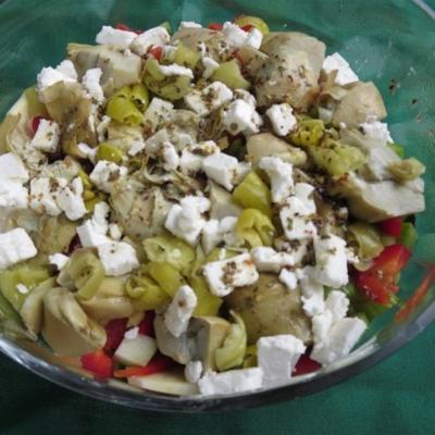 salada de vegetais de raiz de inverno
