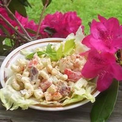 salada de bacon e macarrão