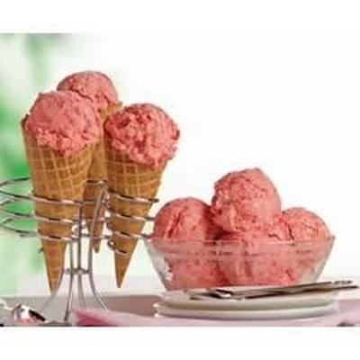 sorvete de framboesa fácil