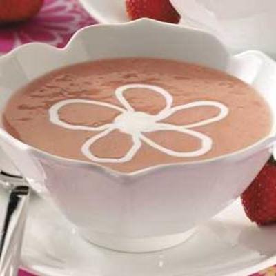 sopa de sobremesa de morango