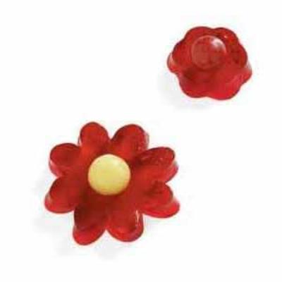 flores de gelatina de cereja