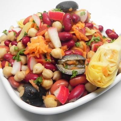 alcachofra tangível garbonzalicious de jonny e salada de feijão
