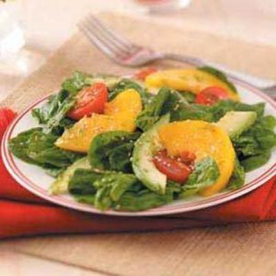 salada de gergelim lance