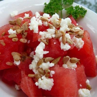 salada de melancia fácil