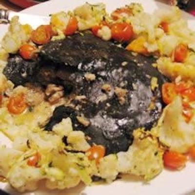 grande ravioli salmone e vedure