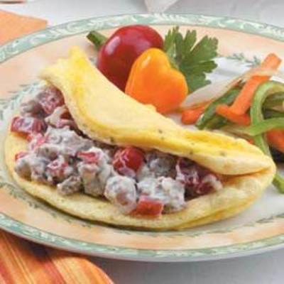 omelete de salsicha fofa
