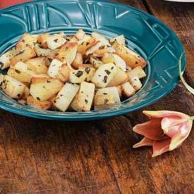batatas em cubos de orégano