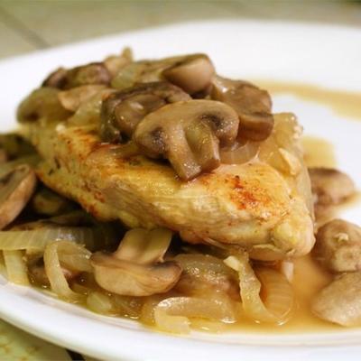 frango páprica com cogumelos