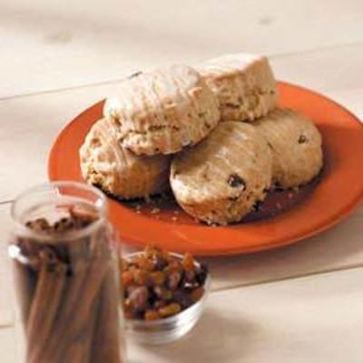 biscoitos de brunch de passas de canela