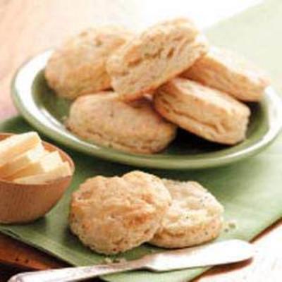biscoitos de sementes de cebola e papoula