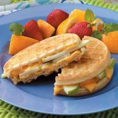 grelhas de waffle de maçã