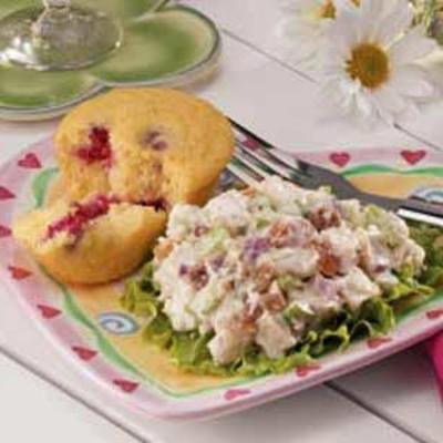 salada de frango frutada