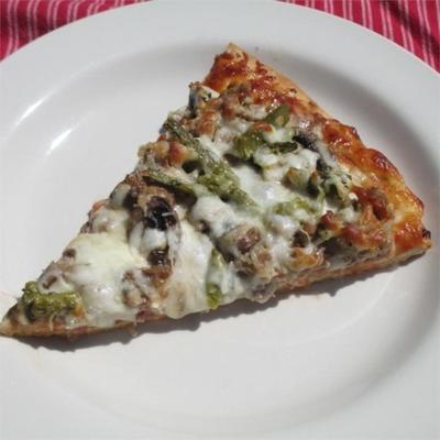 pizza de pão sírio rústico