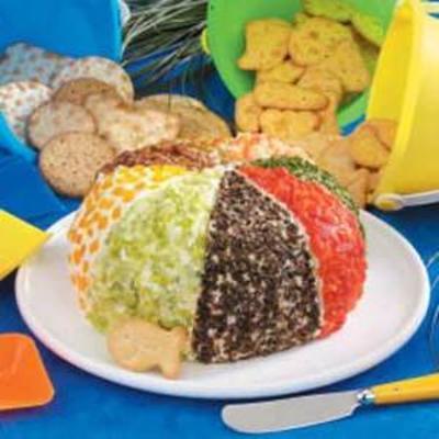 bola de praia de queijo festivo