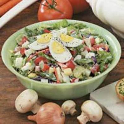 salada de alface cremosa