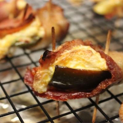 jalapenos recheados de bluezy com bacon