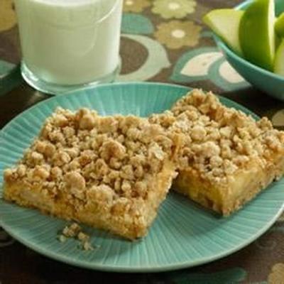 barras de crunch de maçã caramelo