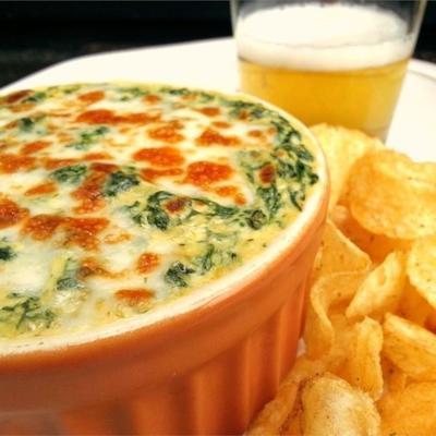 mergulho de espinafre queijo cremoso