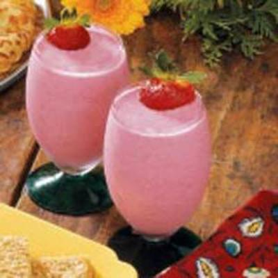 batidos de iogurte de morango