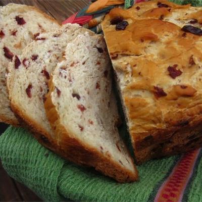 pão de laranja com amora (para máquina de pão)