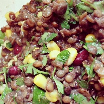 salada de lentilha barata e fácil