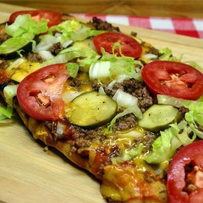 verdadeira pizza de cheeseburguer