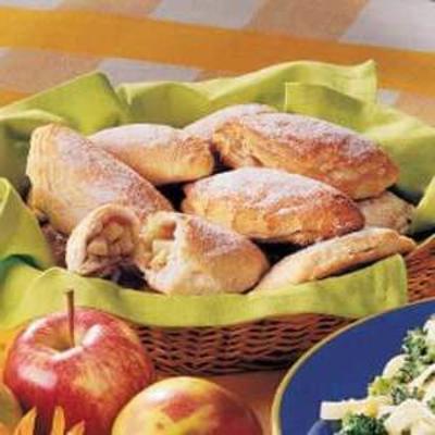 turnovers de canela de maçã